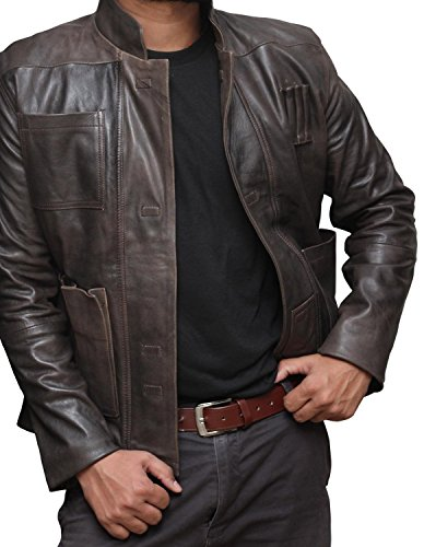 STAR WARS Han Solo Giacca in vera pelle, colore: marrone Brown Large