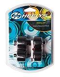 Heelys, 2x 2Rollen,passend für Heelys Modelle Fresh, Thunder, Dual Up, Bolt+, X2Plus, Cruz, Größe EU 30 - 38