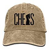 Denim Baseball Cap Chess Silhouette Men Women Golf Hats Adjustable Baseball Hat Hip hop 5190