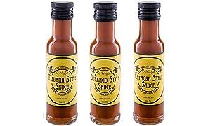 Mexican Tears® - Bhut Jolokia Sauce 3er Pack, scharfe Sauce aus Bhut Jolokia-Chilis - mit die schärfsten Chilis der Welt! [3x100ml Chilisauce]