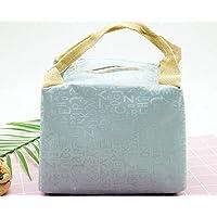 Preisvergleich für Yudanwin Leinwand-Lunch-Tasche Creative Brief Square Kühltasche Lunch Bag (blau)