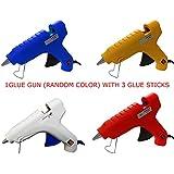 oz 40 WATT HOT MELT Glue Gun with 3 Glue Sticks (Assorted Color)