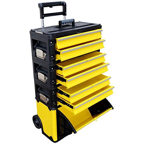Metall Werkzeugtrolley XXL Type: 305BBBD -> jetzt neu mit Schubladenverriegelung und Schloss von AS-S - 5 Schublade Seitliche Metall