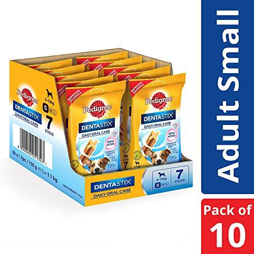 Pedigree DentaStix Snacks für junge und kleine Hunde (4-10kg), 10x7 Stück -