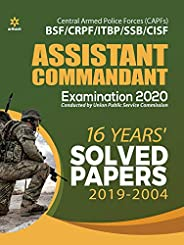 Solved Papers CAPF Assistant Commandant 2020