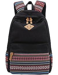 MingTai Oferta Mochilas Escolares Mujer Backpack Mochila Escolar Lona Grande Unisexo Bolsa Vendimia Casual Juvenil Chica Colegio Bolso