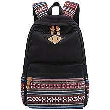 MingTai Oferta Mochilas Escolares Mujer Backpack Mochila Escolar Lona Grande Unisexo Bolsa Vendimia Casual Juvenil Chica