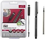 Speedlink Eingabestifte für kapazitive Touchscreens - PIVOT Touchscreen Pen Kit (ergonomische Stifte mit schonender Gummispitze - vermeidet Fingerabdrücke - Stiftlänge: ca. 14cm/4cm) Tablet / Smartphone / iPhone / iPad schwarz
