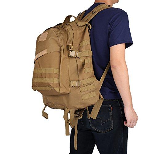 Imagen de 40l 3d  ataque bolsa de táctica camuflaje aire libre tela de nylon, correa ajustable , viaje, deporte, militar, ejercicio, cámping, grande  caqui  alternativa