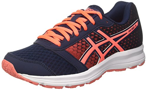 Asics Patriot 8, Scarpe da Ginnastica Donna Blu (Dark Navy/Flash Coral/White)
