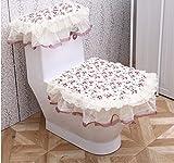 WJS Toilettenmatte Anti - Rutsch - Tuch Stoff WC - Sitz WC Dreiteilige WC - Sets Toilettensitz Sitzkissen