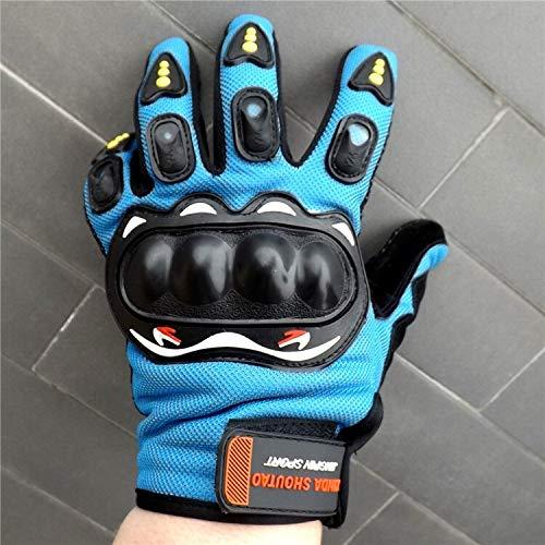 HVTKL Modelli Esplosione qualità Guanti pieni della barretta Moto da Corsa off-Road Pattino di Slittamento Sport motociclistico in Sella a Guanti Caldi (Color : Blue, Size : One Size)