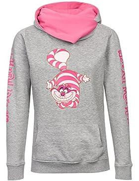 Alicia en el País de Las Maravillas Gato Chesire - We´re All Mad Here Jersey con Capucha Mujer Jaspeado Gris/Pink