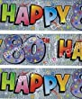 Happy 80th Birthday Foil Party Banner 9ft Long 80 Today