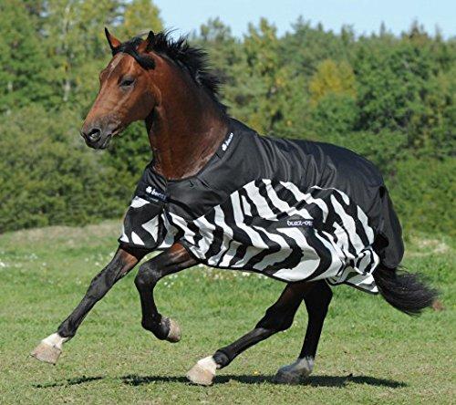 Bucas Buzz-Off Rain Zebra - Fliegendecke/Ekzemerdecke, im Rückenbereich wasserdicht und atmungsaktiv