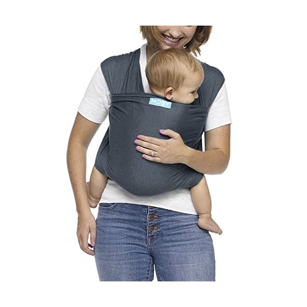 MOBY Evolution Baby Wrap Carrier for Newborn to Toddler up to 30lbs, Baby Sling from Birth, One Size Fits All, Breathable Stretchy Made from 70% Viscose 30% Cotton, Unisex Moby 70% Viscose / 30% Cotton Knit One-size-fits-all Grows with baby, from newborn to toddler 20