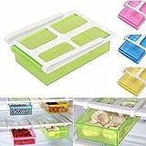Insasta MultiPurpose Shelving Freezer Fridge Space Saver Storage Shelf Drawer Holder Multicolor