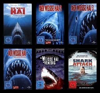 DER WEISSE HAI Teil 1 2 3 4 + in Venedig / Venice + Shark Attack MONSTER HAIE COLLECTION 8 DVD Edition incl. Bonus Dans Sharks