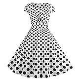 Robe Femme Chic Soiree Vintage Années 50/60 Pin Up Robes Femme Soirée Robe À sans...