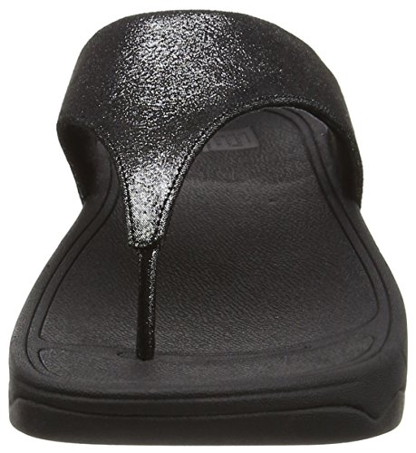 Fitflop Lulu Tm Shimmersuede Infradito Nero (Black (Black 001))