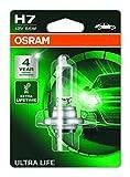 OSRAM ULTRA LIFE H7, lámpara para faros halógena, 64210ULT-01B, ampolla individual (1 unidad)