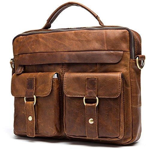 echtes leder - tasche lässig männer handtaschen männer crossbody taschen für männer reisetasche tragen aktentaschen männer taschen laptop öl - rot - braune