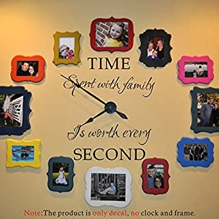 Time Spent with Family is Worth Every Second Moharwall Bedroom and Living Room Vinyl Wall Sticker Wall Decal Picture Decor Quotes