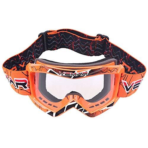 Kinder Kinder Roller Motorrad Brille Eyewear Off Road Motocross Racing Dirt Bike Brille Anti-UV...