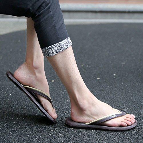Tongs pour hommes, chaussons, chaussons dété pour hommes, les chaussures de plage Sky blue