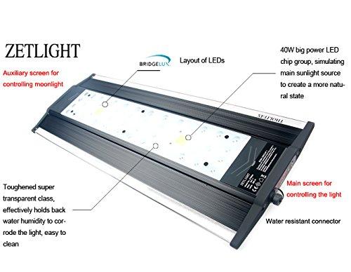 Aquarium LED Beleuchtung Zetlight AQUA Serie, moderne Aquariumbeleuchtung für Garnelen oder Nanobecken (ZA-1200 Süßwasser) - 4