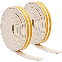 10 m Draught Excluder Seal Strips Doors and Windows Seal Strip Draught Excluder Tape Weatherstrip for Water-proofing Sound-proofing (White)