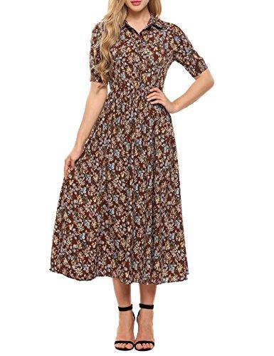 ACEVOG Damen Kleid XX-Large Gr. X-Large, braun Strapless Tulip Dress