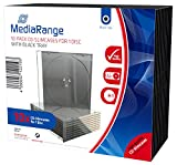 MediaRange BOX32 CD-Leerhülle (schmal, für 1 Disc, 5.2mm, 10er Pack) schwarzes Tray