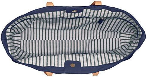 Liebeskind Berlin Ladies Venezia Love Tessuto E Borsa Da Spiaggia, 22x51x35 Cm Multicolore (inchiostro Blu Con Blu)