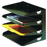 MMF Industries Letter-Format Horizontal Stahl Schreibtisch Organizer 4-stöckig, US-Briefpapier-Größe schwarz