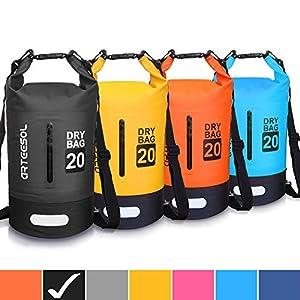 Blackace Bolsa Impermeable, 5L 10L 20L 30L a Prueba de Agua Bolso Seco/Bolsa Seca Impermeable con Correa Ajustable Larga para Kayak Paseo en Barco Canoa/Pesca/Rafting/Natación/Snowboard
