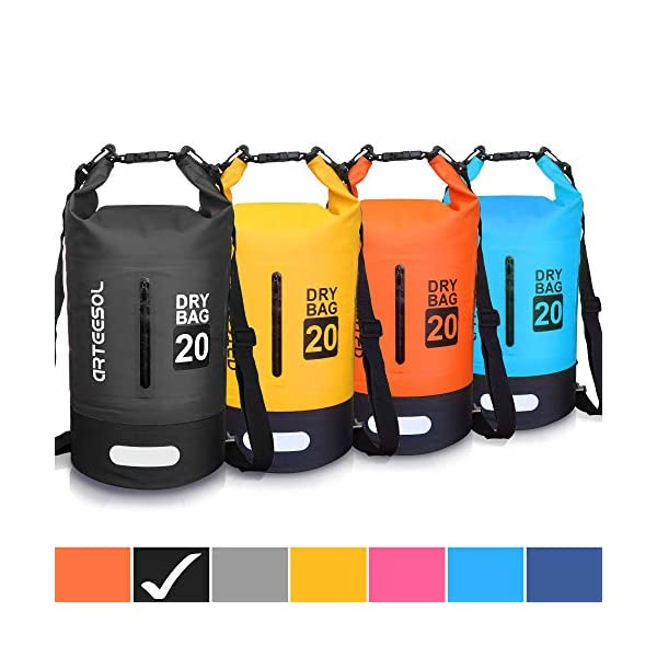 Blackace Dry Bag, 5L 10L 20L 30L WaterProof Dry Bag/Sack Waterproof Bag with Long Adjustable Strap for Kayaking Boat Tour Canoe/Fishing/Rafting/Swimming/Snowboarding 1
