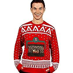Digital Dudz - Morph Costume Co, Suéter de Navidad, color Rojo, talla Large