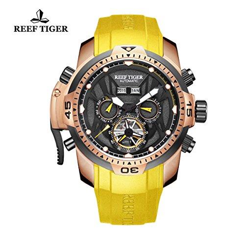 Reef Tiger sport Luminous rose Gold orologio automatico RGA3532