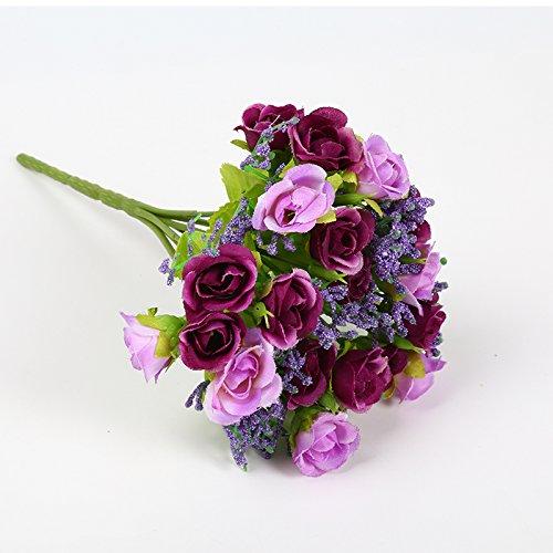 Auntwhale Künstliche gefälschte Seidenblumen, Gefälschte Seidenblumen, die Blumenstrauß-Dekoration Wedding sind für Braut Hochzeit Wohnzimmer Tisch Garten Dekoration