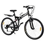 Ridgeyard-26-7-velocidades-Pieghevole-Bici-Pieghevole-Bicicletta-Mountain-Bike-Shimano-Negro