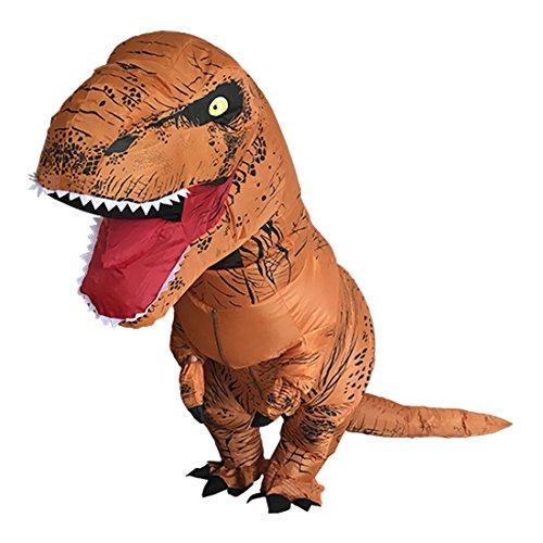 Aufblasbare Dinosaurier T-Rex Kostüm Adult eine Größe Kostüm Halloween (Luft Blow Kostüm Up)