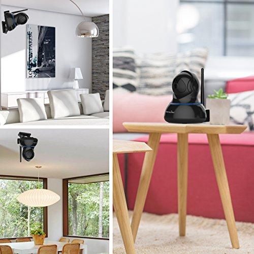 Wansview Videocamera di Sorveglianza, 1080P Telecamera Wi-fi Interno di Sicurezza Per Bambini/Anziani/Pet,Camera IP con PTZ, Audio Bidirezionale e Visione Notturna Q3S (Nero) … - 7