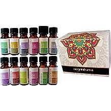 12 Botellas Aceites Esenciales Perfumados Concentrados en Caja de Regalo Essential Collection Catalogo 13-24