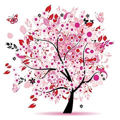 OBELLA Malen nach Zahlen Kits    12 von 15 bunte Tree of Life 12 von 15 Bunter Baum des Lebens 50 x 40 cm    Malen nach Zahlen, DIGITAL Ölgemälde (Mit Rahmen)