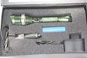 20W HAUT PUISSANCE CREE LED Police Lampe torche LED avec batterie, Chargeur adaptateur UK