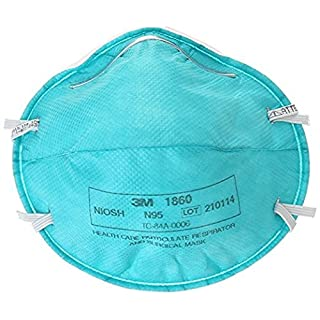 3M 1860S Particulate Respirator and Surgical Mask, Small, Box of 20