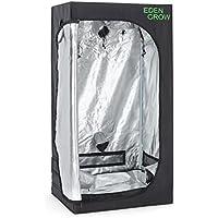 oneConcept Eden Grow S Growbox Grow Tent Homegrow Tenda Coltivazione Indoor (80 x 80 x 160 cm, stabili aste in acciaio, due aste sul soffitto, per lampade o filtri, accesso per cavi e aerazione)