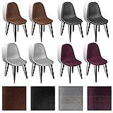 2/4/6/8x Esszimmerstuhl Küchenstuhl Esszimmerstühle Stühle Stuhl Stuhlgruppe Set (2, Dunkelgrau)