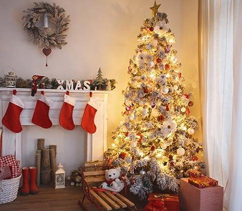 NIVIUS PHOTO 150*150cm weihnachten fotografie hintergrund kamin baum gifts gedruckt weihnachten tapete dekoration D-9567